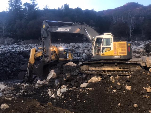 Savala Helps Rebuild Montecito – January 2018 – Savala Equipment Company